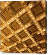 Marquee Lights On Theater Ceiling Canvas Print