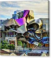 marques de riscal Hotel at sunset - frank gehry Canvas Print