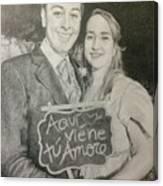 Marriage Portrait Canvas Print