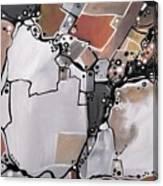 Marron Mapa Canvas Print