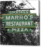 Marro's Restaurant Canvas Print