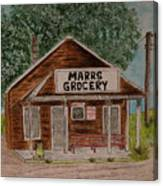Marrs Country Grocery Store Canvas Print