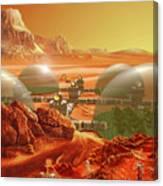 Mars Colony Canvas Print