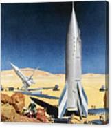 Mars Mission, 1950s Canvas Print