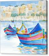 Marsaxlokk Bay Canvas Print