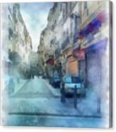 Marseille Back Street Canvas Print