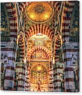 Marseille, France, Inside Of Notre-dame De La Garde Catholic Basilica Canvas Print
