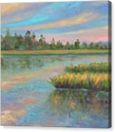 Marsh Glow in the Low Country Canvas Print