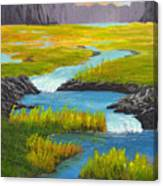 Marsh River Original Painting Canvas Print