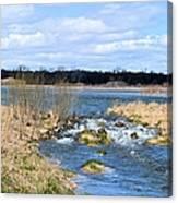 Marsh Spill Way Canvas Print