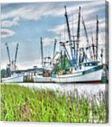 Marsh View Shrimp Boats Canvas Print