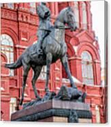 Marshal Georgy Konstantinovich Zhukov Statue Canvas Print