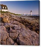 Marshal Point Light Sunset Canvas Print