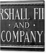 Marshall Field Plaque Canvas Print