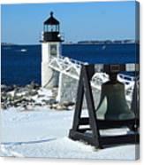 Marshall Point Snow Canvas Print