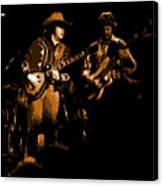 Marshall Tucker Winterland 1975 #17 Enhanced In Amber Canvas Print