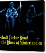 Marshall Tucker Winterland 1975 #18 Enhanced In Blue With Text Canvas Print