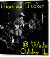 Marshall Tucker Winterland 1975 #3 Crop 2 With Text Canvas Print
