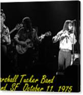 Marshall Tucker Winterland 1975 #37 Crop 2 With Text Canvas Print