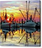 Marshallberg Harbor Sunset Canvas Print
