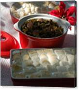 Marshmellow Covered Candied Yams And Southern Greens Canvas Print