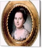 Martha Washington 1731-1802, First Lady Canvas Print