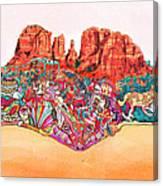 Martin-hardy-sedona Wide Canvas Print