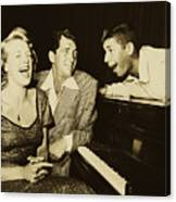 Martin, Lewis, And Clooney Canvas Print
