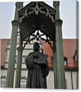 Martin Luther In Market Square Canvas Print