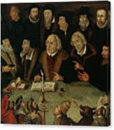 Martin Luther In The Circle Of Reformers Canvas Print