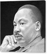 Martin Luther King, Jr Canvas Print