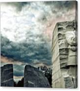 Martin Luther King Memorial At Sunset Canvas Print