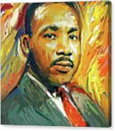 Martin Luther King Portrait 2 Canvas Print