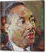 Martin Luther King Portrait Mosaic 1 Canvas Print