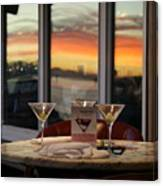 Martini At Sunset Canvas Print