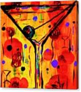 Martini Twentyfive Of Sidzart Pop Art Collection Canvas Print