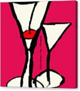 Martini With Pink Background Canvas Print