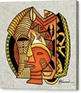 Maruvian Masks 1 Canvas Print