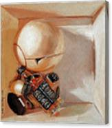 Marvin, Paranoid Android In A Box Canvas Print