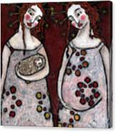 Mary And Elizabeth 2 Canvas Print