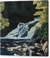 Mary Ann Falls On The Cabot Trail Canvas Print
