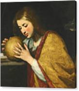 Mary Magdalene In Meditation  Canvas Print