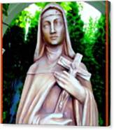 Mary With Cross Canvas Print