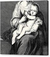 Mary With The Child Jesus Canvas Print