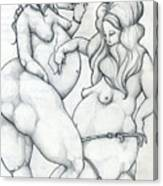 Maryanne And Regina Canvas Print