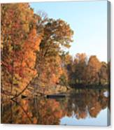 Maryland Autumns - Clopper Lake - Kingfisher Overlook Canvas Print