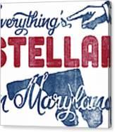 Maryland Poster - Funny Stellar Canvas Print