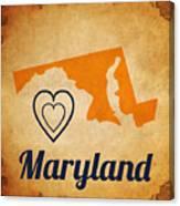 Maryland Vintage Canvas Print