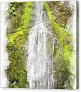Marymere Falls Wc Canvas Print