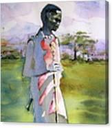 Masaai Boy Canvas Print